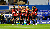 2nd October 2020; St Andrews Stadium, Coventry, West Midlands, England; English Football League Championship Football, Coventry City v AFC Bournemouth; Dan Gosling of AFC Bournemouth celebrates with his team after scoring his second goal in the 60th minute 1-3