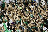 PALMIRA – COLOMBIA, 12-09-2021: Hinchas del Cali animan a su equipo durante partido entre Deportivo Cali e Independiente Santa Fe por la final, vuelta, como parte de la Liga Femenina BetPlay DIMAYOR 2021 jugado en el estadio Deportivo Cali - Myriam Guerrero de la ciudad de Palmira. / Fans of Cali cheer for their team during match for the final, second leg, as part Women's League BetPlay DIMAYOR 2021 between Deportivo Cali and Independiente Santa Fe at Deportivo Cali - Myriam Guerrero stadium in Palmira city. Photo: VizzorImage / Gabriel Aponte / Staff