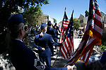 The Nevada Air Guard NCO Academy Graduates Association presents the Five Flag ceremony during the Nevada National Guard's 23rd annual Flag Day ceremony in Carson City, Nev., on Monday, June 14, 2021. <br /> Photo by Cathleen Allison