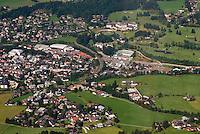 Austria, Kitzbuhel, Juli 15, 2015, Tennis, Davis Cup, Kitzbuhel from the lift with the tennis stadium<br /> Photo: Tennisimages/Henk Koster