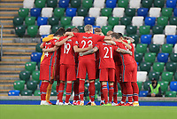 7th September 2020; Windsor Park, Belfast, County Antrim, Northern Ireland; EUFA Nations League, Group B, Northern Ireland versus Norway; The Norwegian team huddle just before kick off