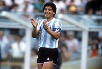Citta del Messico 25.06.1986  <br /> Campionati del Mondo di Calcio Messico 1986 <br /> Finale <br /> Diego Armando Maradona <br /> Photo imago/Werek/Insidefoto <br /> ITALY ONLY ITALY ONLY
