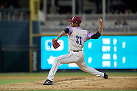 Frisco RoughRiders pitcher Emmanuel Clase (31) during a Texas League game against the Amarillo Sod Poodles on July 13, 2019 at Dr Pepper Ballpark in Frisco, Texas.  (Mike Augustin/Four Seam Images)
