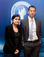 """*** NO FEE PIC***.16/12/2011.(L to R).Shami Chakrabarti Director Liberty,.Hagai El- AD Executive Director Association for Civil Rights in Israel (ACRI)..during the """"The Future of Human Rights Global Techniques Securing Local Impact"""" international seminar at The Westbury Hotel, Dublin..Photo: Gareth Chaney Collins"""