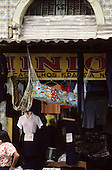 Belem, Amazon, Brazil. Shop selling clothes, hammocks and baby hammock; Ver-O-Peso market.