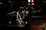 Chad Kagy competes in the BMX Freestyle Vert Best Trick finals during X-Games 12 in Los Angeles, California on August 4, 2006.