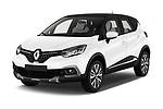 2017 Renault Capture Initiale Paris 5 Door SUV angular front stock photos of front three quarter view