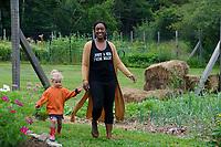 Friends in the garden, Yarmouth Community Garden, Maine