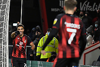 Junior Stanislas of AFC Bournemouth left celebrates scoring the first goal with David Brooks of AFC Bournemouth during AFC Bournemouth vs Wycombe Wanderers, Sky Bet EFL Championship Football at the Vitality Stadium on 15th December 2020