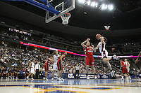 18 March 2006: Jillian Harmon, Rosalyn Gold-Onwude, Brooke Smith, and Krista Rappahahn during Stanford's 72-45 win over Southeast Missouri State in the first round of the NCAA Women's Basketball championships at the Pepsi Center in Denver, CO.