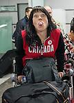 Candice Drouin, Sochi 2014.<br /> Team Canada arrives at the airport in Sochi for the Sochi 2014 Paralympic Winter // Équipe Canada arrive à l'aéroport de Sotchi pour Sochi 2014 Jeux paralympiques d'hiver. 05/03/2014.