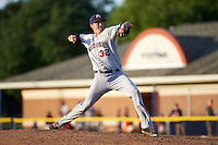 Mahoning Valley Scrappers pitcher James Stokes (32) delivers a pitch during a game against the Batavia Muckdogs on July 3, 2015 at Dwyer Stadium in Batavia, New York.  Batavia defeated Mahoning Valley 7-4.  (Mike Janes/Four Seam Images)