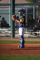 Michael Fernandez Jr. (6) of Bellevue High School in Bellevue, Washington during the Baseball Factory All-America Pre-Season Tournament, powered by Under Armour, on January 14, 2018 at Sloan Park Complex in Mesa, Arizona.  (Zachary Lucy/Four Seam Images)