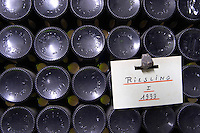 pile of bottles riesling 1999 f e trimbach ribeauville alsace france
