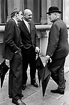 Three business men in the City of London 1970s.