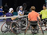 Rotterdam, The Netherlands, 5 march  2021, ABNAMRO World Tennis Tournament, Ahoy,  Quarter final wheelchair: Takashi Sanada (JPN) / Jef Vandorpe (BEL).<br /> Photo: www.tennisimages.com/henkkoster