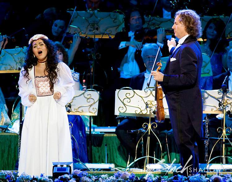 Andre Rieu performing in his first ever Australian concert at Telstra Dome, Melbourne, 13 November 2008