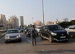 Lebanese policeman organize the traffic, during the lockdown imposed by the authorities in a bid to slow the spread of the coronavirus, in Beirut, Lebanon, on January 7, 2021. Since the start of the Covid-19 pandemic, Lebanon has recorded nearly 200,000 cases including 1,537 deaths, according to health ministry figures. Health professionals have warned that the latest surge in cases risked causing catastrophe across Lebanon, which is already suffering from the aftermath of a devastating August explosion in Beirut and a dire economic crisis. Photo by Marwan Bou Haidar