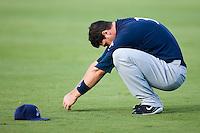 Right fielder Matt LaPorta (3) of the Huntsville Stars stretches prior to the game at the Baseball Grounds in Jacksonville, FL, Thursday June 12, 2008.