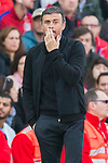 Coach Luis Enrique Martinez Garcia of FC Barcelona reacts during their La Liga match between Atletico de Madrid and FC Barcelona at the Santiago Bernabeu Stadium on 26 February 2017 in Madrid, Spain. Photo by Diego Gonzalez Souto / Power Sport Images