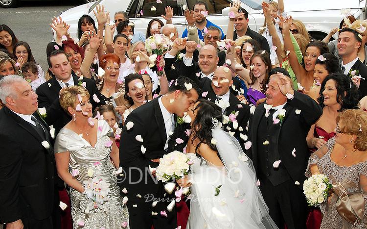 The wedding of Antonietta Rubino and Gerard Iucci at St.Rosalia-Regina Pacis Church in Brooklyn, New York on Saturday, April 18, 2009.