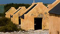 Slave huts, Bonaire, Netherland Antilles, Caribbean Sea, Atlantic Ocean