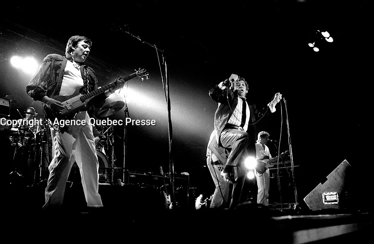 The ANIMALS<br /> Juillet 1983,<br /> Montreal, CANADA<br /> <br /> PHOTO :  Agence Quebec Presse