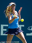 Elina Svitolina (UKR) during her quarterfinal match against Alison Riske (USA) at the Bank of the West Classic in Stanford, CA on August 7, 2015. Svitolina advanced to Saturday's semifinal after defeating Riske by 46 75 61.