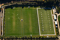 Aerial view of the Charlotte Panthers practice field.