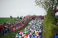 peloton up the Gulperberg<br /> <br /> Amstel Gold Race 2014
