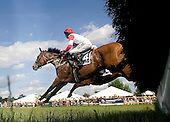 Mabou takes a jump in the James Moran at Radnor, the race that convinced trainer David Jacobson to claim the veteran jumper, who went on to win the Grade 1 Turf Writers Cup.