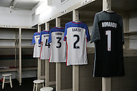 San Diego, CA - Sunday January 29, 2017: USA locker room.  prior to an international friendly between the men's national teams of the United States (USA) and Serbia (SRB) at Qualcomm Stadium.