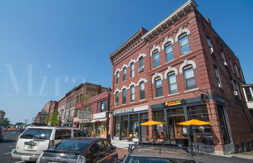 Concord New Hampshire NH downtown city center with cafes on Main Street in Capital city