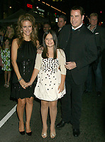 """12 July 2020 - Actress and wife of John Travolta Kelly Preston dead at age 57 from breast cancer.9 November 2009 - Hollywood, California - John Travolta, wife Kelly Preston and daughter Ella Bleu Travolta. """"Old Dogs"""" Los Angeles Premiere held at the El Capitan Theatre. Photo Credit: Michael Jade/AdMedia"""