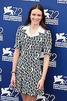 Stacy Martin attends the photocall for the movie 'The Childhood Of A Leader' during the 72nd Venice Film Festival at the Palazzo Del Cinema in Venice, Italy, September 5. <br /> UPDATE IMAGES PRESS/Stephen Richie