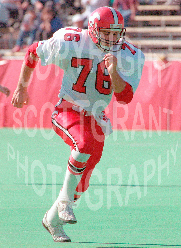 Marshall Toner Calgary Stampeders 1989. Photo F. Scott Grant