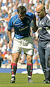 21/08/2005         Copyright Pic : James Stewart.File Name : jspa42 rangers v celtic.BARRY FERGUSON LIMPS OFF AFTER RECEIVING AN INJURY DURING A CHALLENGE BY BOBO BALDE WHICH HAS ALL BUT RULED HIM OUT OF THE CHAMPIONS LEAGUE QUALIFIER AGAINST FAMAGUSTA.... .Payments to :.James Stewart Photo Agency 19 Carronlea Drive, Falkirk. FK2 8DN      Vat Reg No. 607 6932 25.Office     : +44 (0)1324 570906     .Mobile   : +44 (0)7721 416997.Fax         : +44 (0)1324 570906.E-mail  :  jim@jspa.co.uk.If you require further information then contact Jim Stewart on any of the numbers above.........