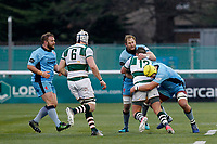 Mark Bright of London Scottish puts in a tackle during the Greene King IPA Championship match between Ealing Trailfinders and London Scottish Football Club at Castle Bar , West Ealing , England  on 19 January 2019. Photo by Carlton Myrie/PRiME Media Images