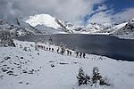 Ptarmigan lake on the way to Skoki lodge