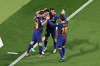 FC Barcelona's Luis Suarez, Philippe Coutinho, Sergi Roberto and Leo Messi celebrate goal during Spanish King's Cup Final match. April 21,2018. (ALTERPHOTOS/Acero)