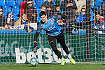 Thibaut Courtois of Real Madrid warms up during La Liga match between Getafe CF and Real Madrid at Coliseum Alfonso Perez in Getafe, Spain. January 04, 2020. (ALTERPHOTOS/A. Perez Meca)