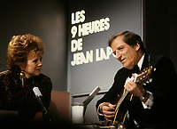 Montreal (Qc) CANADA - circa 1988 File Photo -<br /> <br /> Jean Lapointe at his telethon<br /> <br /> -Photo (c)  Images Distribution