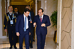 A handout photo made available by Egyptian Presidency shows Egyptian President Abdel Fattah al-Sisi meeting with Italian Prime Minister Giuseppe Conte, in Beijing, China, 27 April 2019. Photo by Egyptian President Office