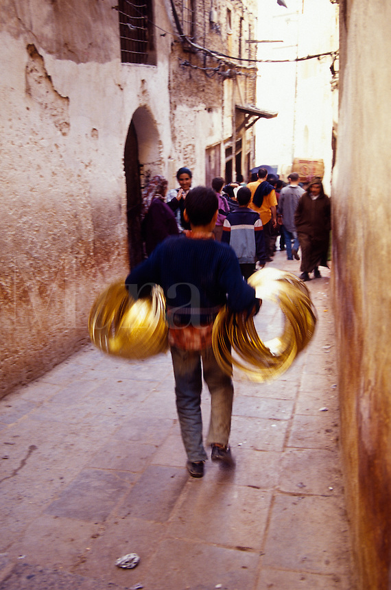 Narrow walking street, Medina, Morocco