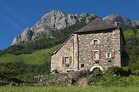 France, Pyrénées-Atlantiques (64), Béarn, vallée d'Aspe, Borce, Maison forte //  France, Pyrenees Atlantiques ,Bearn, Aspe Valley, Borce: Fortified house
