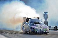 Jun. 15, 2012; Bristol, TN, USA: NHRA funny car driver Bob Bode during qualifying for the Thunder Valley Nationals at Bristol Dragway. Mandatory Credit: Mark J. Rebilas-