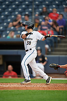 Akron RubberDucks Tyler Friis (38) at bat during an Eastern League game against the Reading Fightin Phils on June 4, 2019 at Canal Park in Akron, Ohio.  Akron defeated Reading 8-5.  (Mike Janes/Four Seam Images)