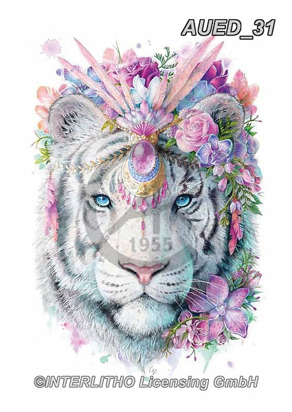 Carlie, REALISTIC ANIMALS, REALISTISCHE TIERE, ANIMALES REALISTICOS, paintings+++++Tiger-Spirit-Animal,AUED31,#A#, EVERYDAY ,fantasy