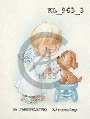 Interlitho, CHILDREN, KINDER, NIÑOS, paintings+++++,KL963/3,#k# angels,stickers ,everyday