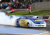 Jul. 19, 2013; Morrison, CO, USA: NHRA pro stock driver Rodger Brogdon during qualifying for the Mile High Nationals at Bandimere Speedway. Mandatory Credit: Mark J. Rebilas-